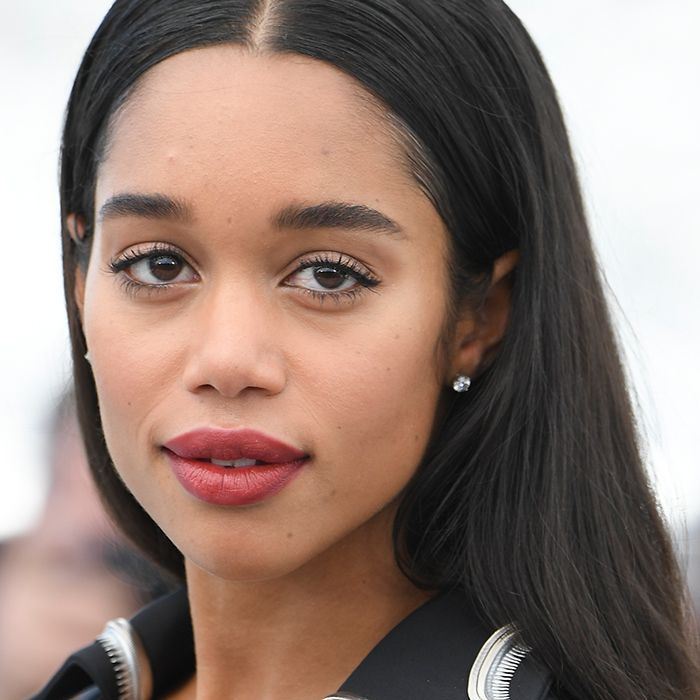 Laura Harrier acne products: Laura Harrier Attends 2018 Cannes Film Festival