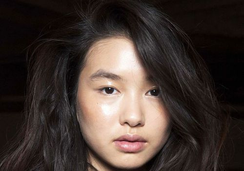 Asian model with glowing skin