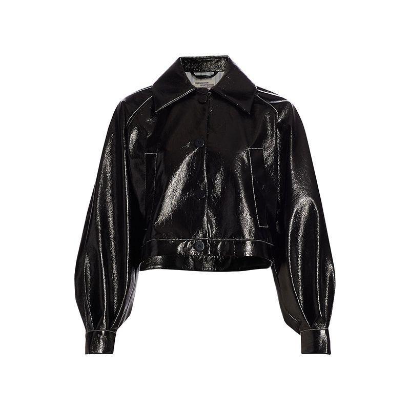 Bracca Patent Cropped Shirt Jacket