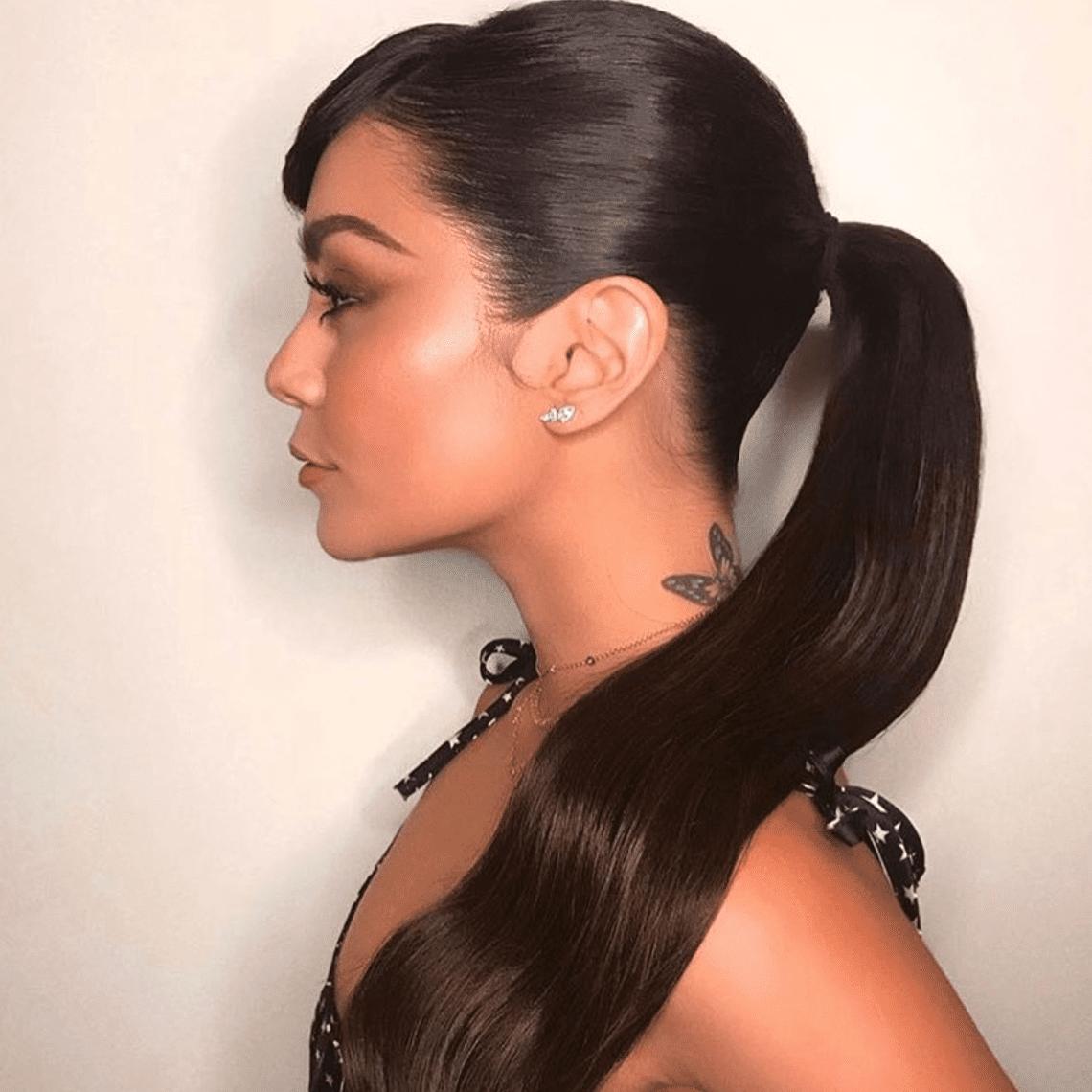 Vanessa Hudgens neck tattoo