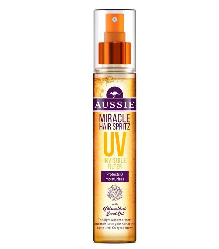 Best SPF Hair Mist: Aussie Miracle Leave In Spray UV Spritz Filter