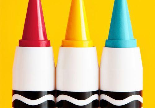 Set of three Crayola makeup crayons