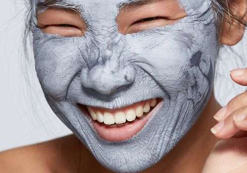 woman with skincare