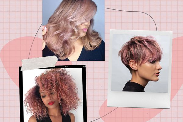 women with pink hair