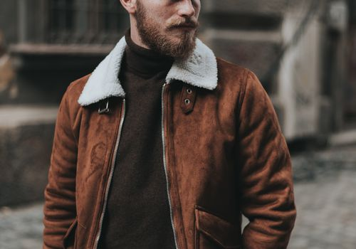 fashionable man outside