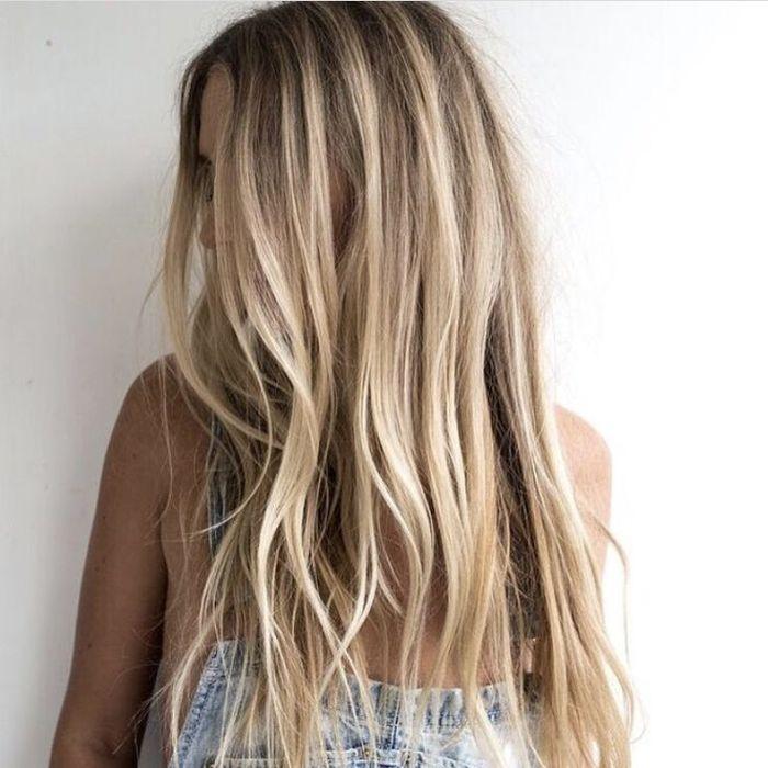 beachy blond hair
