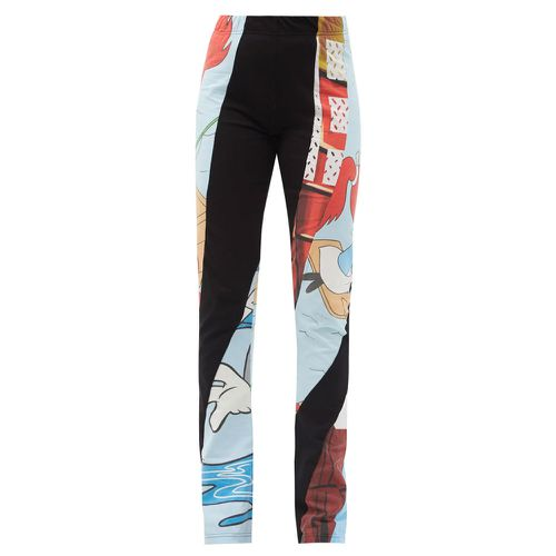 Rave Review Ozzy High-Rise Recycled-Cotton Patchwork Leggings