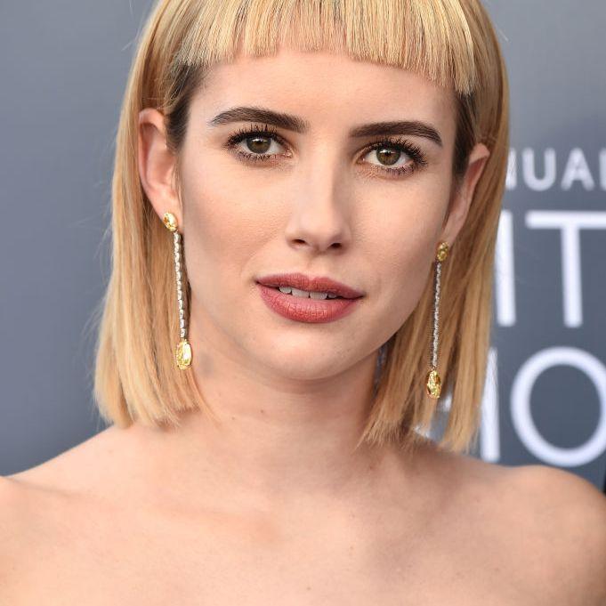 Emma Roberts blunt bangs
