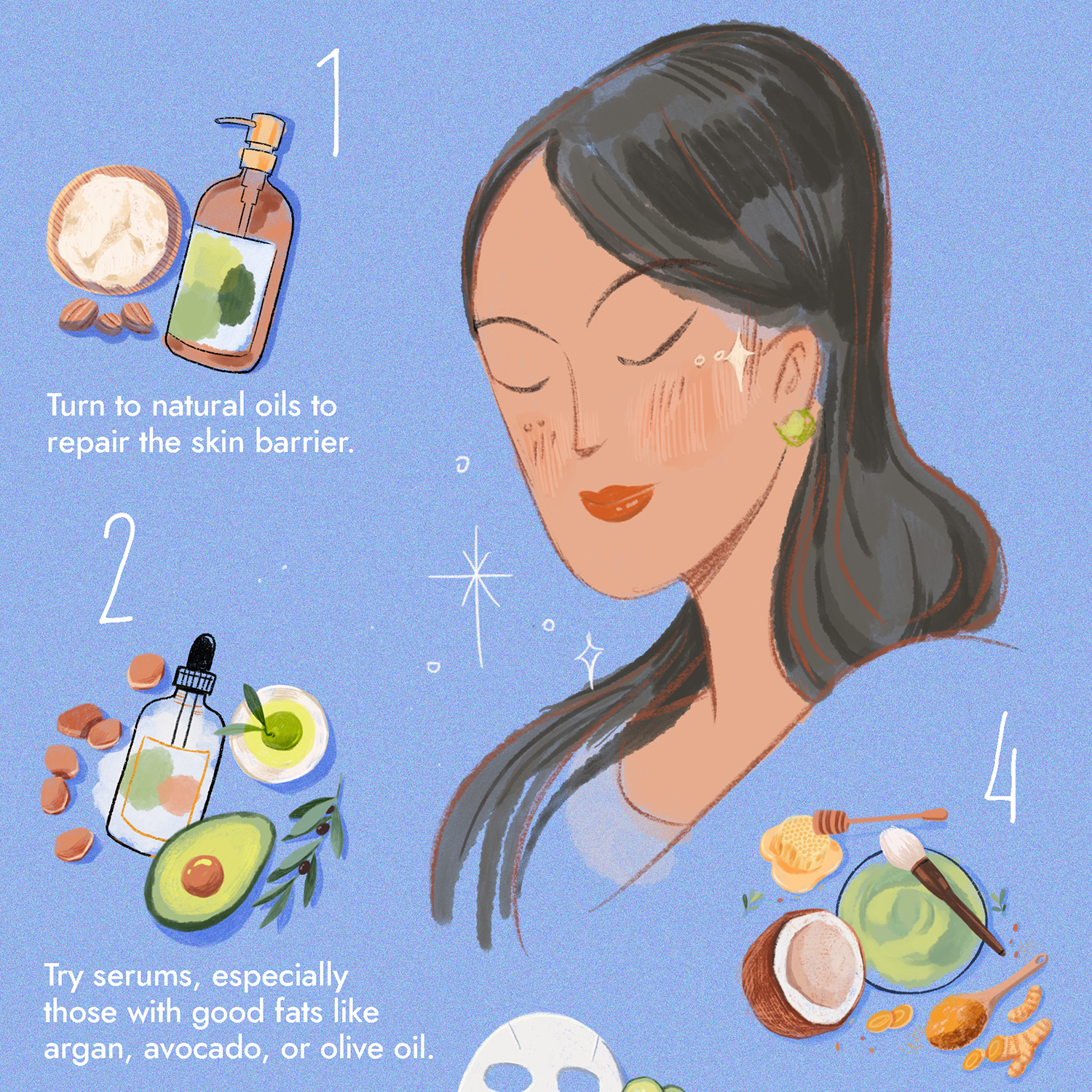 how to moisturize face naturally