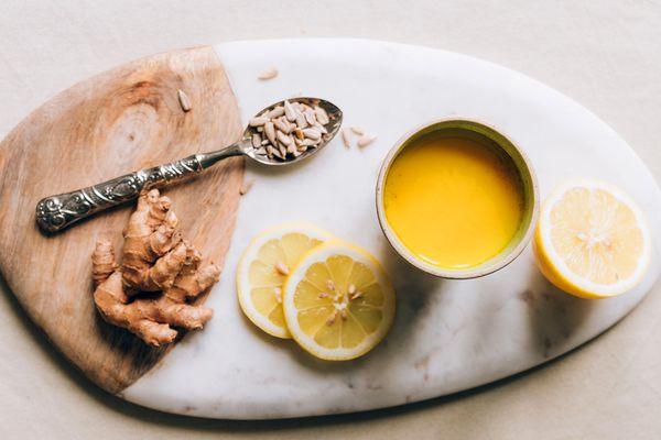golden milk turmeric lemon ginger