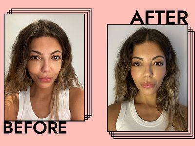 Hourglass Ambient Lighting Blush Results on Gabrielle Dyer