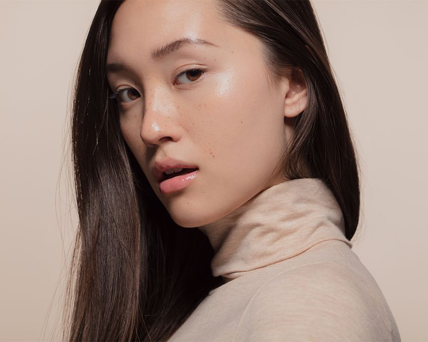 korean woman with dewy skin