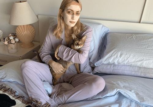 Rio Viera-Newton and kitty cat Martini