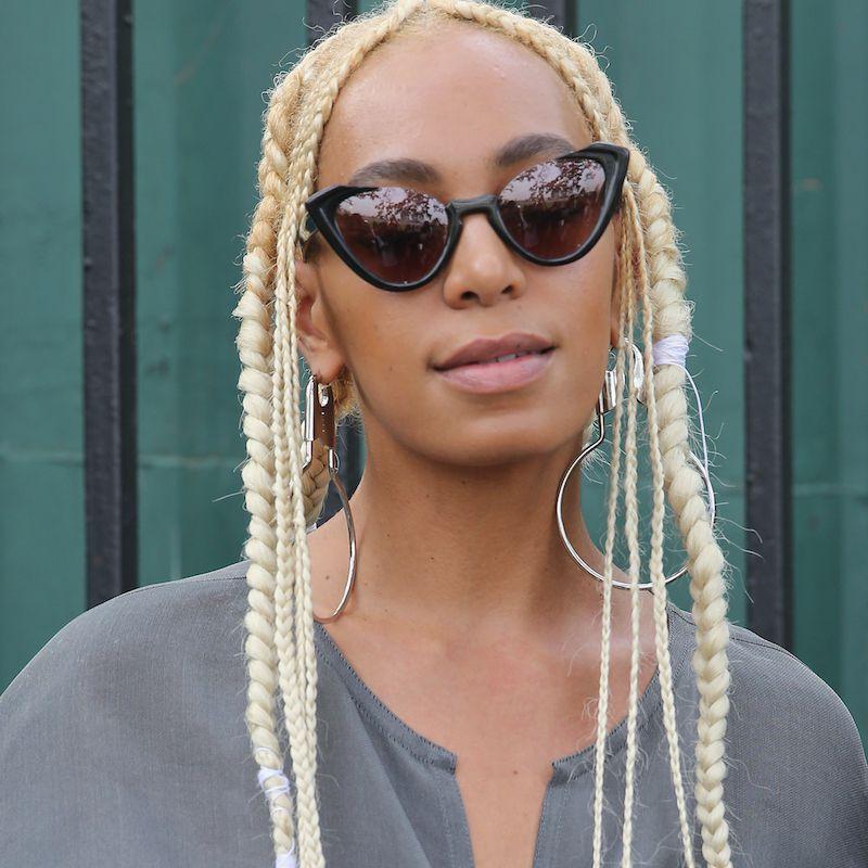 Cornrow Hairstyles Platinum Solange Knowles