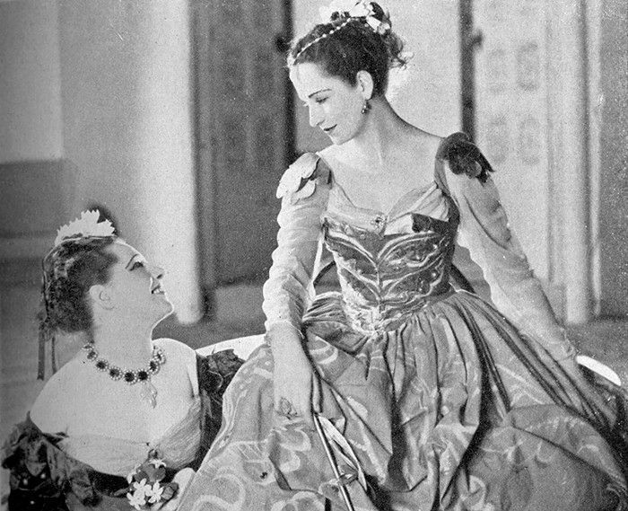 Angela Baddeley and Peggy Ashcroft in The Merchant of Venice