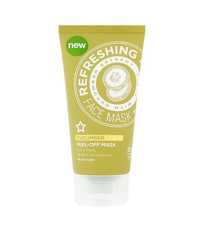 Best peel-off face masks: Superdrug Purifying Cucumber Peel Off Mask