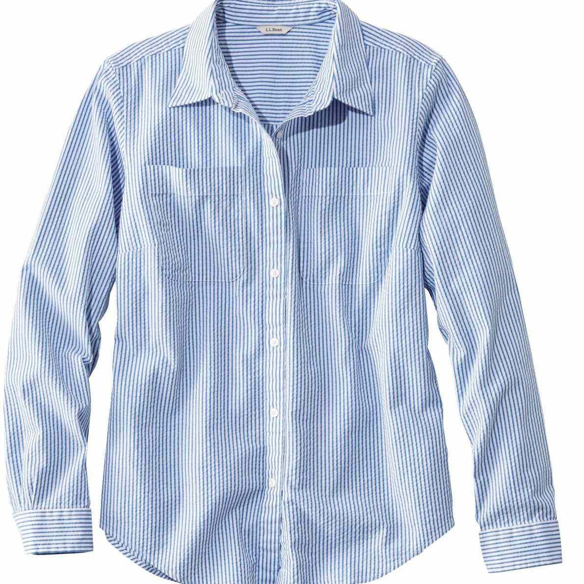 L.L. Bean Vacationland Seersucker Shirt