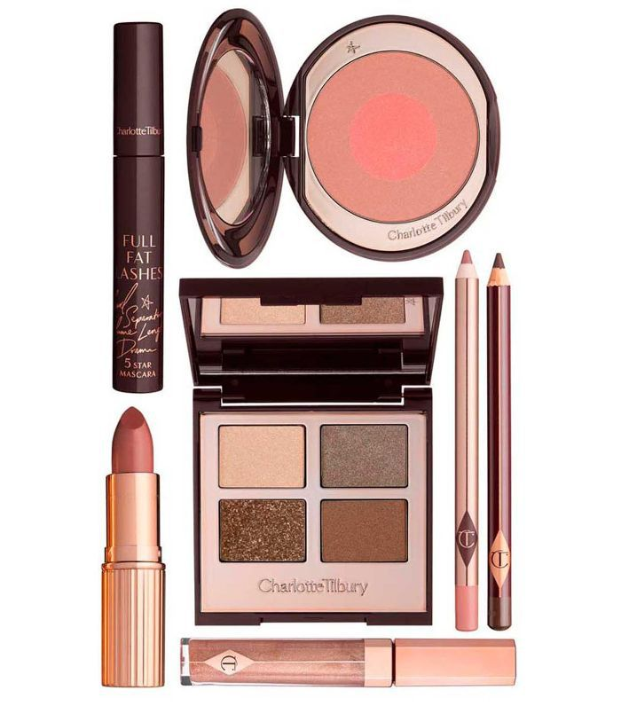 christmas gift sets: Charlotte Tilbury Golden Goddess Look Gift Box
