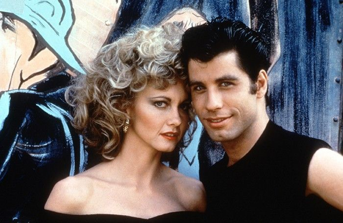 Olivia Newton John with John Travolta in Grease