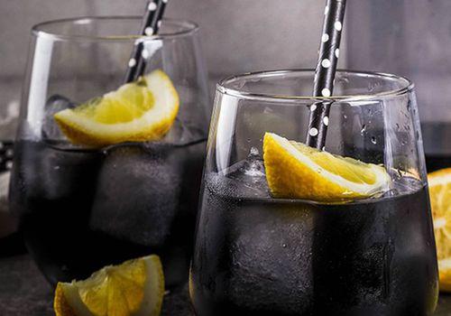 activate charcoal lemon drink