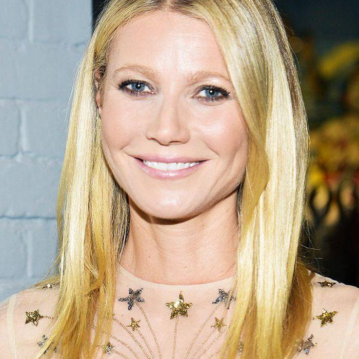 Gwyneth Paltrow long, straight hair