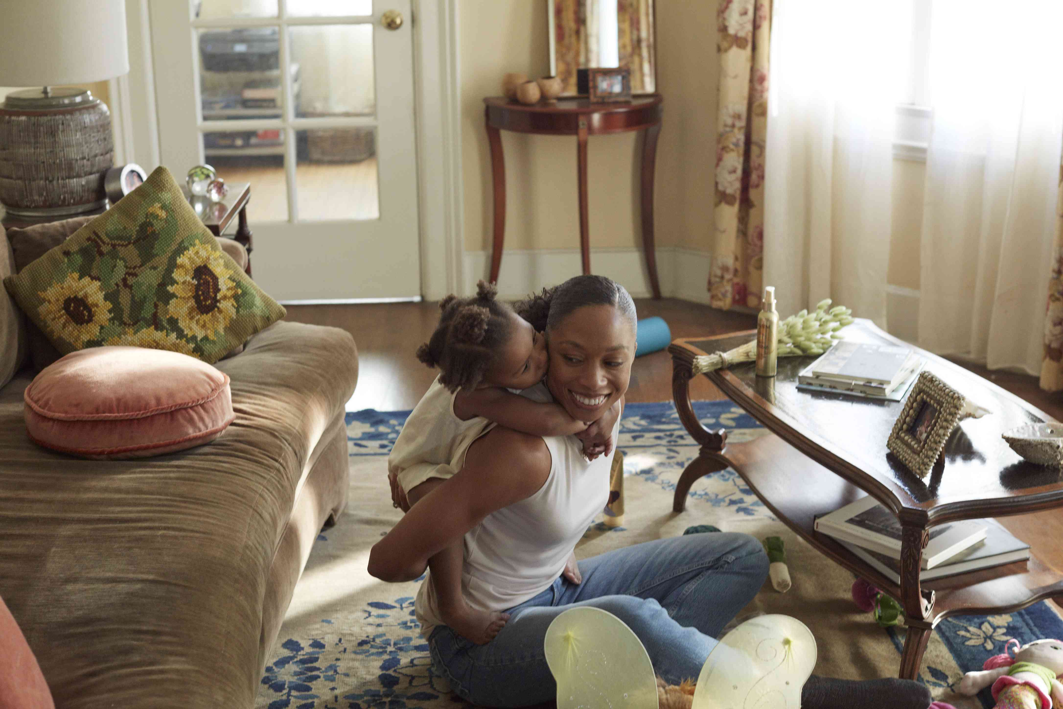 Allyson Felix and daughter