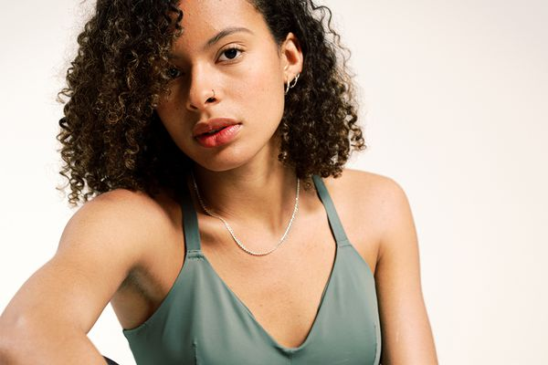 medium short thick curly hair portrait