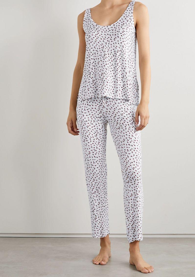 Leset Nora Floral-Print Strech-Modal Pajama Set
