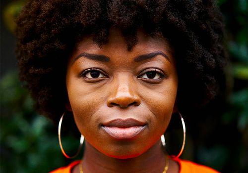black woman with beautiful natural hair