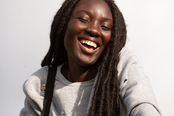 Woman with natural locs
