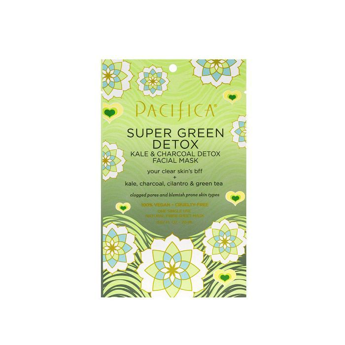 Super Green Detox Kale and Charcoal Facial Mask