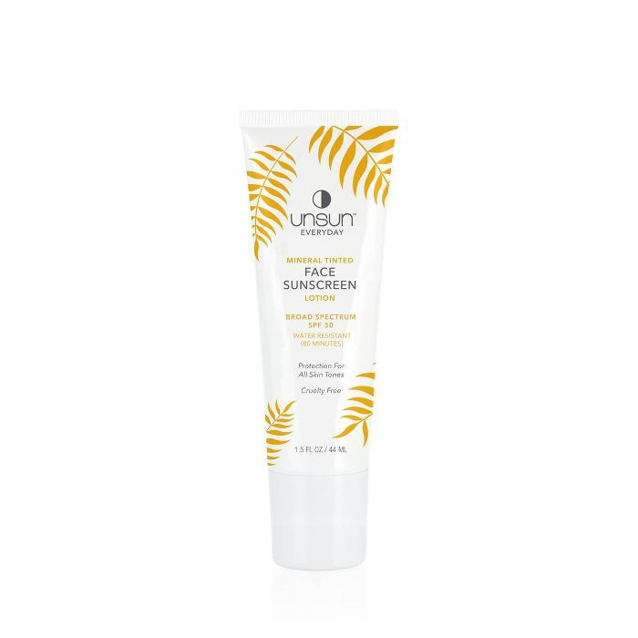 Unsun Cosmetics Mineral Tinted Face Sunscreen Lotion SPF 30