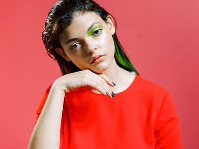girl with makeup looking sad