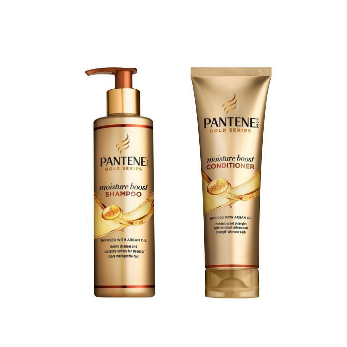 best drugstore beauty products: Pantene Gold Series Moisture Boost Shampoo