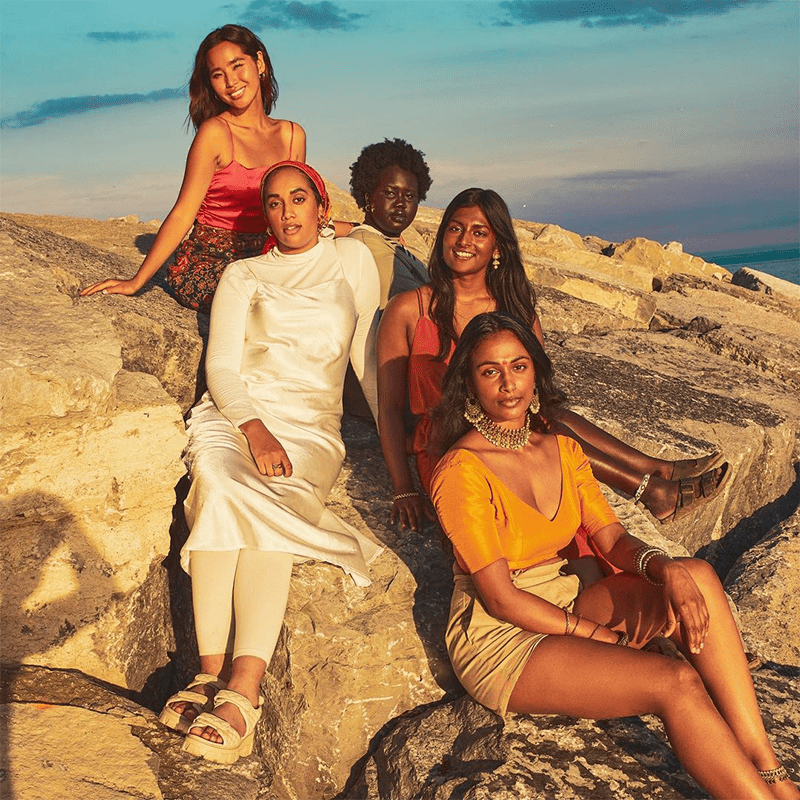 Girls in sun