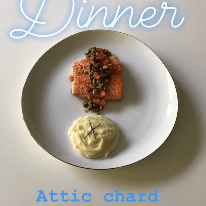 arctic char with olive salsa