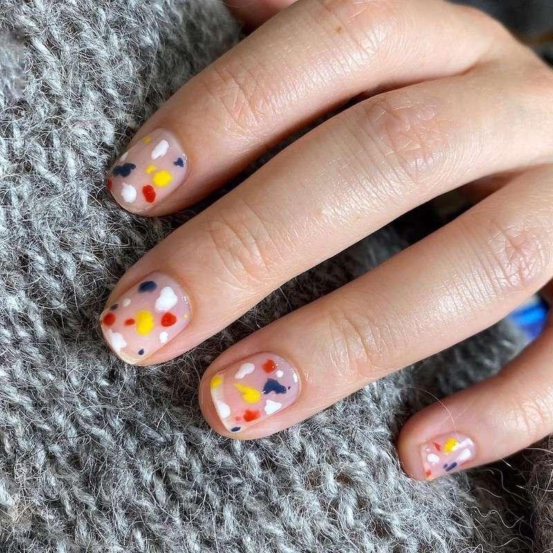 Simple Nail Designs Paint Splatter