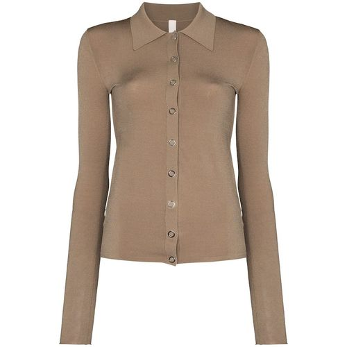 Dion Lee Buttoned Polo-Style Cardigan