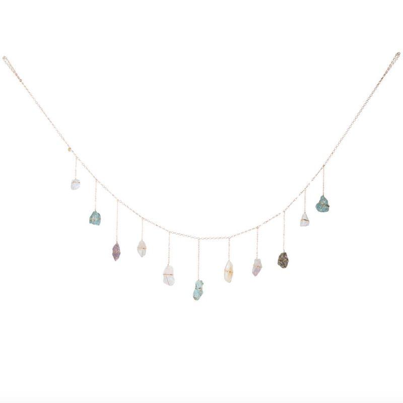 Hanging crystal garden