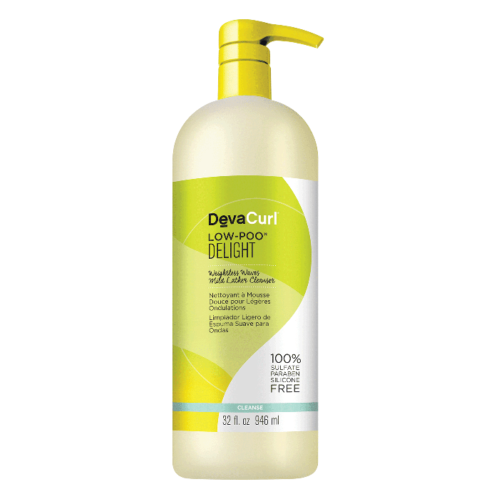 bets shampoo for curly hair: DevaCurl Low-Poo Delight Weightless Waves Mild Lather Cleanser