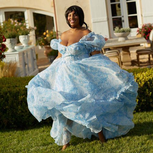 The Baby Blue Toile Ritz Dress ($399)