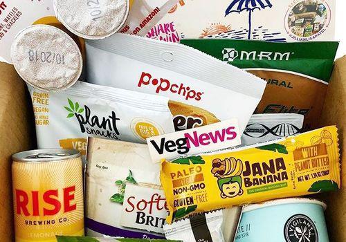 vegan snacks in a box