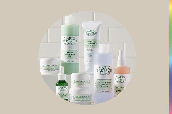 mario badescu products in bathroom