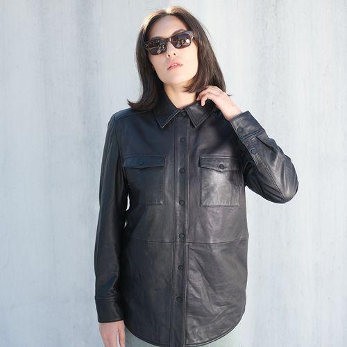 Leather Shirt Jacket ($348)
