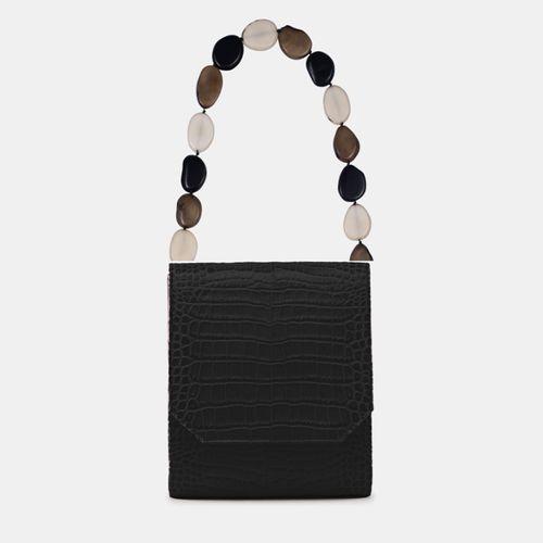 La Sortija Croco Black Bag ($450)