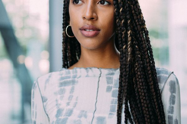 Young Black woman with braids