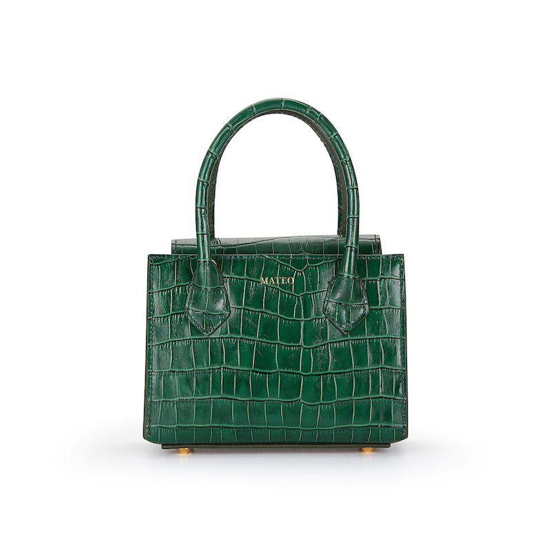 Emerald Croc Diana Bag