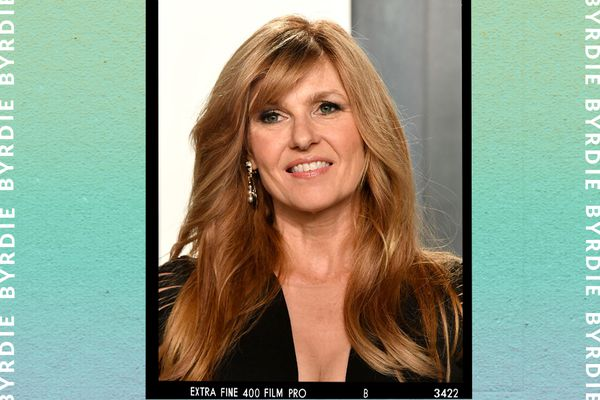 Actress Connie Britton with flowing hair.