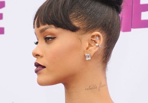 Rihanna with conch piercing