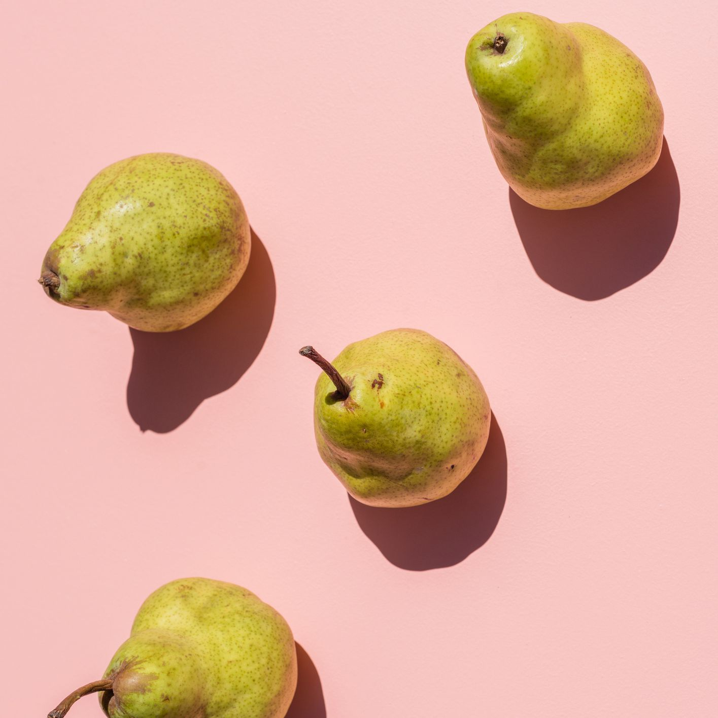 pears on pink